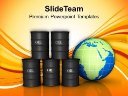 Oil Trading Concept Globe Business Powerpoint Templates Ppt Themes And Graphics 0113