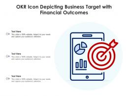 OKR Icon Depicting Business Target With Financial Outcomes