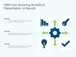 OKR Icon Showing Analytical Presentation Of Results