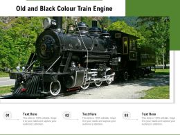 Old And Black Colour Train Engine