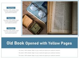 Old Book Opened With Yellow Pages