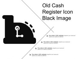 Old Cash Register Icon Black Image