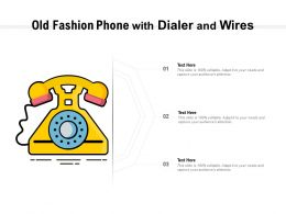 Old Fashion Phone With Dialer And Wires