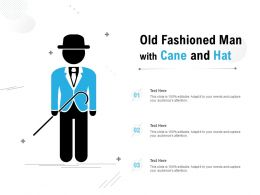 Old Fashioned Man With Cane And Hat