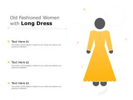 Old Fashioned Women With Long Dress