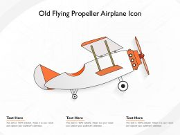 Old Flying Propeller Airplane Icon