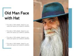 Old Man Face With Hat