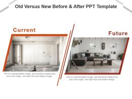 Old Versus New Before And After Ppt Template