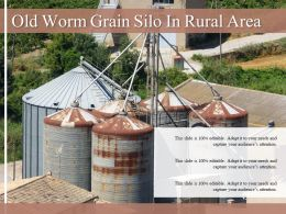 Old Worm Grain Silo In Rural Area