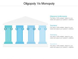 Oligopoly Vs Monopoly Ppt Powerpoint Presentation Gallery Graphic Images Cpb