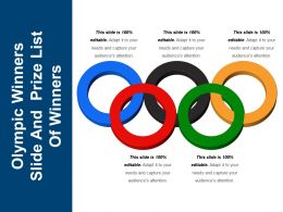 Olympic Winners Slide And Prize List Of Winners Ppt Images