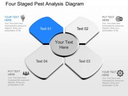 om Four Staged Pest Analysis Diagram Powerpoint Template