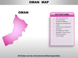 Oman Country Powerpoint Maps