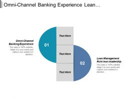 Omni Channel Banking Experience Lean Management Role Lean Leadership Cpb