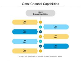 Omni Channel Capabilities Ppt Powerpoint Presentation Inspiration Template Cpb