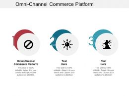Omni Channel Commerce Platform Ppt Powerpoint Presentation Inspiration Objects Cpb