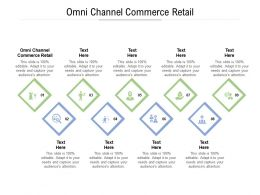 Omni Channel Commerce Retail Ppt Powerpoint Presentation Inspiration Themes Cpb