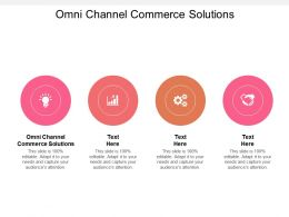 Omni Channel Commerce Solutions Ppt Powerpoint Presentation Styles Designs Download Cpb