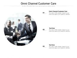 Omni Channel Customer Care Ppt Powerpoint Presentation Gallery Layout Cpb