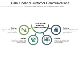 Omni Channel Customer Communications Ppt Powerpoint Presentation Infographic Cpb