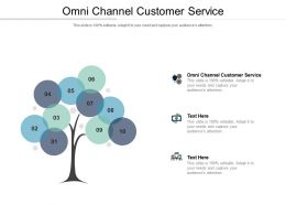 Omni Channel Customer Service Ppt Powerpoint Presentation Outline Microsoft Cpb