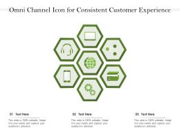 Omni Channel Icon For Consistent Customer Experience