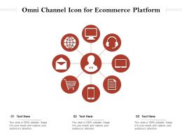 Omni Channel Icon For Ecommerce Platform