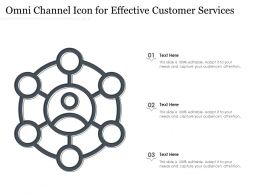 Omni Channel Icon For Effective Customer Services
