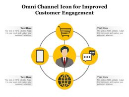Omni Channel Icon For Improved Customer Engagement