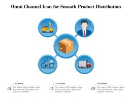 Omni Channel Icon For Smooth Product Distribution