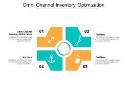 Omni Channel Inventory Optimization Ppt Powerpoint Presentation Gallery Templates Cpb