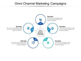 Omni Channel Marketing Campaigns Ppt Powerpoint Presentation File Ideas Cpb