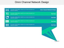 Omni Channel Network Design Ppt Powerpoint Presentation Styles Example Cpb