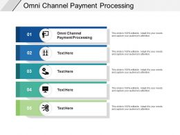 Omni Channel Payment Processing Ppt Powerpoint Presentation Show Icon Cpb