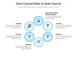 Omni Channel Retail Vs Multi Channel Ppt Powerpoint Presentation Gallery Brochure Cpb