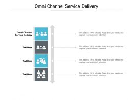 Omni Channel Service Delivery Ppt Powerpoint Presentation Diagram Templates Cpb