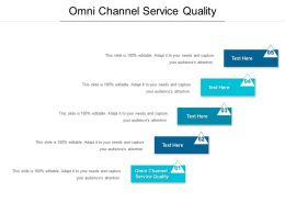 Omni Channel Service Quality Ppt Powerpoint Presentation File Demonstration Cpb
