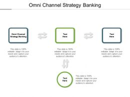Omni Channel Strategy Banking Ppt Powerpoint Presentation Icon Deck Cpb
