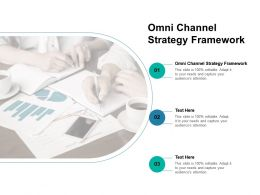 Omni Channel Strategy Framework Ppt Powerpoint Presentation Background Cpb