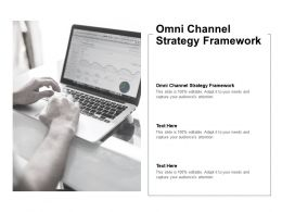 Omni Channel Strategy Framework Ppt Powerpoint Presentation Layouts Master Slide Cpb