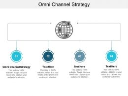 Omni Channel Strategy Ppt Powerpoint Presentation Show Icon Cpb