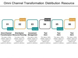Omni Channel Transformation Distribution Resource Planning Investment Management Cpb