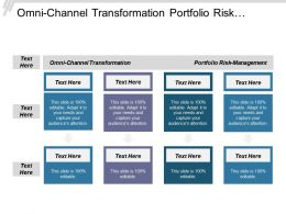 Omni Channel Transformation Portfolio Risk Management Mckinsey Strategy Cpb