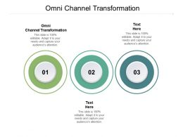 Omni Channel Transformation Ppt Powerpoint Presentation Icon Slide Cpb