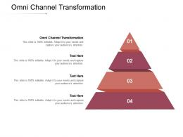Omni Channel Transformation Ppt Powerpoint Presentation Inspiration Background Image Cpb