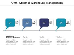 Omni Channel Warehouse Management Ppt Powerpoint Presentation Summary Elements Cpb
