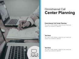 Omnichannel Call Center Planning Ppt Powerpoint Presentation Professional Example Cpb