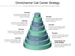 Omnichannel Call Center Strategy Ppt Powerpoint Presentation Inspiration Good Cpb