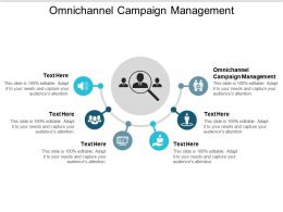 Omnichannel Campaign Management Ppt Powerpoint Presentation Icon Grid Cpb