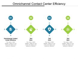 Omnichannel Contact Center Efficiency Ppt Powerpoint Presentation Layouts Ideas Cpb